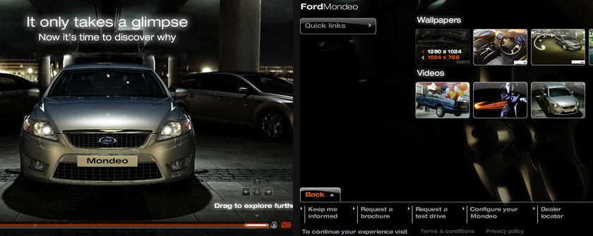 Ford Mondeo Flash Microsite